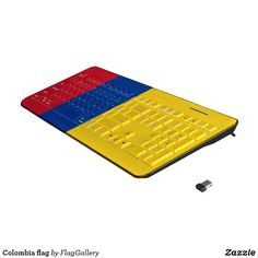 Shop Colombia flag wireless keyboard created by FlagGallery. Colombian Flag, Flags Of The World, Keyboard, Your Design, Vibrant Colors, Usb, World Flags, Vivid Colors
