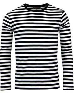 120200d3d4 Retrorocket Mod Long Sleeve Shirt by Madcap England - in black & white  stripes