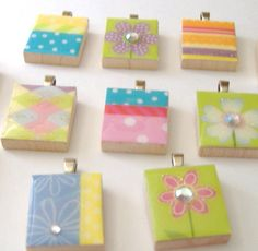 Scrabble Tile Pendants to make--cute, easy, and best of all...inexpensive!