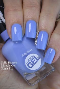 Sally Hansen Miracle Gel Travel In Colour Collection | grape fizz nails | Bloglovin'