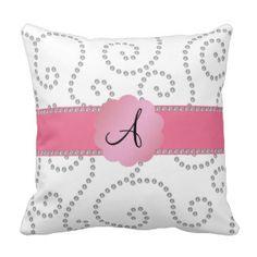 Wedding Monogram C Throw Pillows, Wedding Monogram C Pillow Designs