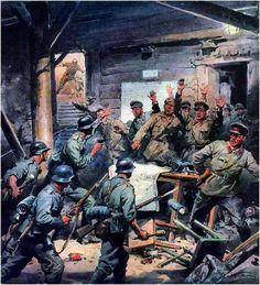"""""""La battaglia di Stalingrad"""" (actual Volgogrado). Aquile Beltrame"""