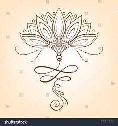 Magic Symbols, Unalome, Tatoo Art, Adult Coloring Pages, Leg Tattoos, Lotus Flower, Hand Henna, Hand Drawn, Tattoo Ideas