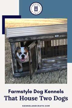 Looking for a kennel to fit your farmhouse decor? Check out our selection of handcrafted kennels, or customize your own at Kennel and Crate! Crate Training, Training Your Dog, Urban Farmhouse, Farmhouse Decor, Wire Crate, Dog Accesories, Dog Spaces, Dog Kennels, Two Dogs