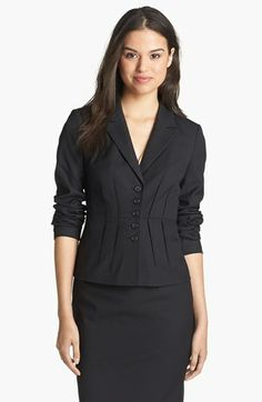 Halogen® Pleated Jacquard Suit Jacket (Regular & Petite) available at #Nordstrom