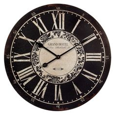 Have to have it. Hotel 23.25 in. Wall Clock - $64.99 @hayneedle