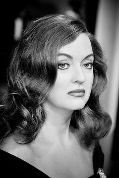 """therhythmoftime: """" Bette Davis, absolutely stunning. A wax figure of Bette Davis at Madame Tussauds Hollywood. """""""