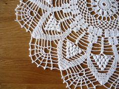 Crochet doily on Easter basket, Easter gift, Easter ornament
