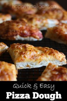Fast and Easy Pizza Dough!  No kneading, no waiting.  It's so simple, and it's really delicious! - HAPPY HOOLIGANS