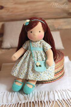 Купить Вальдорфская кукла - вальдорфская кукла, вальдорфская игрушка, вальдорфские куклы, вальдорфские куколки Girl Dolls, Baby Dolls, Christmas Gift Bags, Waldorf Toys, Soft Dolls, Diy Doll, Fabric Dolls, Doll Patterns, Beautiful Dolls