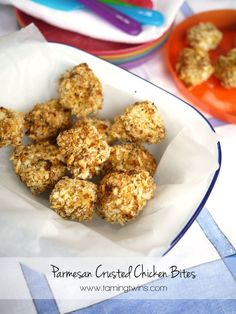 Parmesan Crusted Chicken Bites (these are a super easy, healthy version of chicken nuggets - fantastic for children and toddlers.)