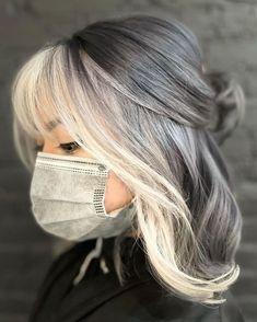 Grey Hair Over 50, Long Gray Hair, Silver Grey Hair, Dyed Gray Hair, Ash Gray Hair Color, Grey Hair Styles For Women, Short Hair Styles, Shoulder Length Hair Styles For Women, Gray Hair Women