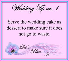 For more tips and advice on any aspect of planning a wedding have a look at our website and FB page. Plan My Wedding, Wedding Tips, Destination Wedding, Wedding Planning, Types Of Desserts, Desserts To Make, First Boyfriend, Fb Page, Wedding Website