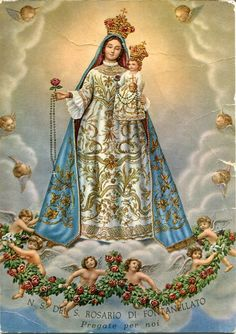 Sacra Galeria: SANTÍSSIMO ROSÁRIO #Virgendelrosario #love #OurLadyoftherosary