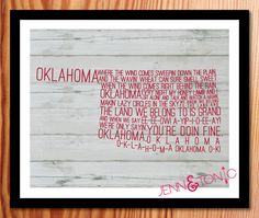 I want this!  8x10+Oklahoma+State+Song+Art+Print++Digital+File+by+JennNTonic,+$10.00