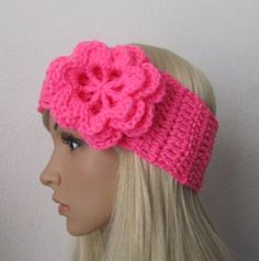How to Crochet Earwarmer/Headband with a Flowerw by ThePatterfamily P#3