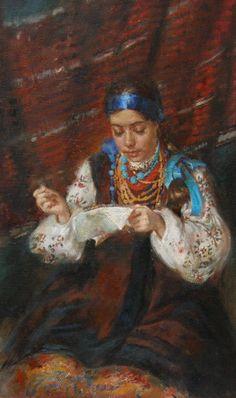 """ Making embroidery ""by Katheryna Biletina"