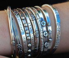 Sterling Bracelets-Stack'em up baby!!
