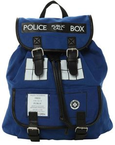 Awesome tardis backpack! http://merchandise.thedoctorwhosite.co.uk/doctor-who-tardis-slouch-backpack/?utm_source=whonews&utm_medium=whonewsapp