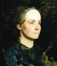 Abbott Handerson Thayer - Portrait of a Woman (also known as Miss Gertrude…