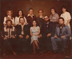 (top L-R) Melody, Connie, Harold, Elaine, Kathy & Peggy  (bottom L-R) Jerry Smith, Gary, Pamela, Richard & John Hanevold
