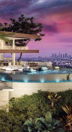 A Hilltop Estate designed by Vantage Design Group located in #LosAngeles, #California! #LA #Design ❤️