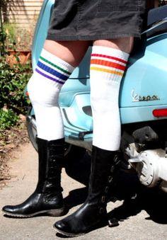 497846406cfbb 25 Best Thigh High Tube Socks images | Striped tube socks, Thigh ...