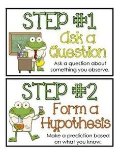 """FREE!  SCIENTIFIC METHOD ANCHOR CHART CARDS ....Follow for Free """"too-neat-not-to-keep"""" teaching tools & other fun stuff :)"""