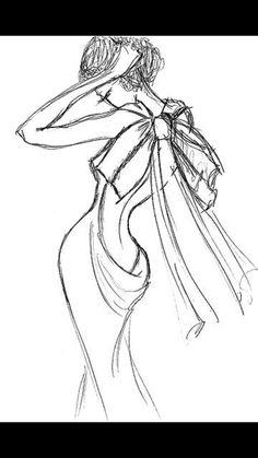 Diseño de modas #DiseñaTuVida Fashion Design Sketchbook, Fashion Design Drawings, Fashion Sketches, Art Sketches, Wedding Dress Sketches, Fashion Illustration Dresses, Fashion Design Template, Model Sketch, Fashion Art