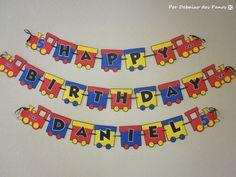 Happy Birthday Choo Choo Express Banner by PorDebaixoDosPanos, $29.90