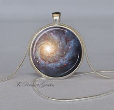 GALAXY PENDANT Star Necklace Blue Cream Red Star Pendant Galaxy Necklace Geek Jewelry Astronomy Pendant Chain Included. $12.95, via Etsy.