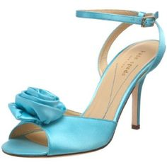 Kate Spade: I want these for the wedding! Peep Toe Shoes, Blue Shoes, Turquoise, Aqua, Hot Pink, Jewelry Watches, High Heels, Kate Spade, Wedding Inspiration