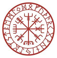 Viking Schutz Runen Vegvisir Kompass Talisman schwarzen Vinyl-Aufkleber This rune is known as Vegvis Viking Symbols, Viking Runes, Rune Symbols, Band Tattoos, Body Art Tattoos, Cross Tattoos, Maori Tattoos, Viking Protection Rune, Protection Tattoo