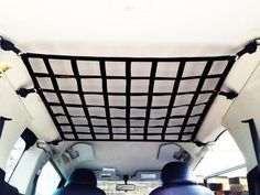 2007 - Newer Toyota FJ Cruiser Ceiling Attic Storage and Behind Front Seat Barrier Divider RSXN