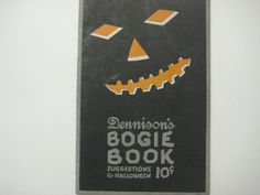 Dennison's Bogie Book Halloween Suggestions 1922 by robertandfrancesca on Etsy