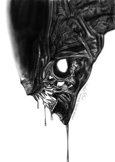 Alien Vs Predator by aaspi Alien Vs Predator, Predator Movie, Predator Alien, Hr Giger Alien, Hr Giger Art, Alien Films, Aliens Movie, Arte Alien, Alien Art