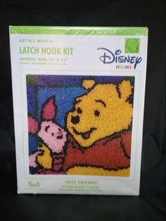 Winnie the Pooh Hook Latch Kit, Rug Hooking Kit, Latch Hook Kits, Disney Home Decor, Rug Making, Winnie the Pooh Decor, Disney Craft, Piglet by SecondActShop on Etsy