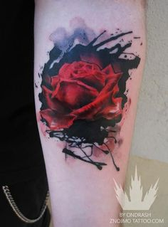 rose tattoo - 40 Eye-catching Rose Tattoos  <3 <3