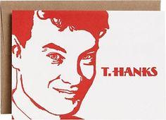 T.Hanks Letterpress Thank You Card