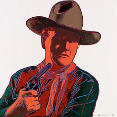 Andy Warhol, Cowboys and Indians: John Wayne (FS.II.377), 1986 Screenprint on Lenox Museum Board, 36 x 36 in (91.4 x 91.4 cm) Signed and numbered in pencil lower right. Marked unique on recto. Edition of 15 HC