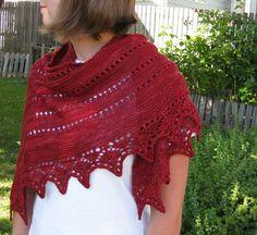 Ravelry: Alma Ella Shawl pattern by Robin Lynn - Free pattern Crochet Shawls And Wraps, Crochet Scarves, Knit Crochet, Lace Shawls, Shawl Patterns, Knitting Patterns, Crochet Patterns, Yarn Twist, Knitted Afghans