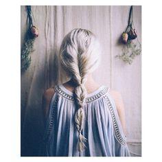 Image via We Heart It https://weheartit.com/entry/158830306/via/29738922 #beauty #blonde #braid #dress #fashion #girly #hair #pretty #style #vintage