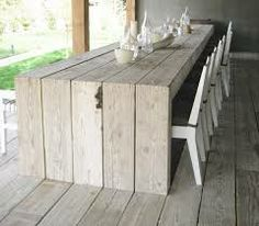 white kitchen wooden island bench top - Google Search