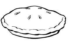 Pumpkin Pie Coloring Page  Fall Coloring Pages  Pinterest