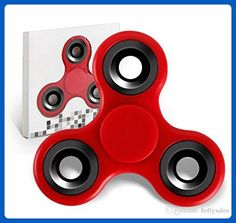 Fidget Spinner High Speed Stainless Steel Bearing Hand Spinners - RED - ADHD Focus Anxiety Relief Toys - Fidget spinner (*Amazon Partner-Link)