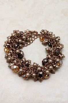 Chocolate Collier Bracelet | love the color for fall
