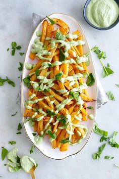 Rutabaga Fries with Zesty Cashew Dipping Sauce - crispy baked veggie fries with a lemon garlic sauce! This vegan rutabaga recipe is a delicious snack that's easy to prepare. Veggie Snacks, Healthy Vegetable Recipes, Veggie Fries, Veggie Dishes, Vegetarian Recipes, Side Dishes, Delicious Recipes, Healthy Foods, Keto Recipes