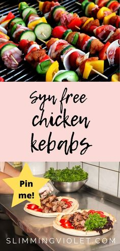 These delicious chicken kebabs are Syn free on Slimming World, and make for a great family friendly dinner when you're in the mood for a fakeaway. Healthy Meals For Kids, Healthy Meal Prep, Healthy Dinner Recipes, Mexican Food Recipes, Vegetarian Recipes, Slimming World Chicken Recipes, Chicken Lunch Recipes, Recipe Chicken, Kebab Recipes