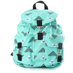 Dusen Dusen Kendra Backpack In Triangles (75 CAD) ❤ liked on Polyvore featuring bags, backpacks, accessories, bolsas, women, backpacks bags, knapsack bags, triangle bag, blue bag and day pack backpack