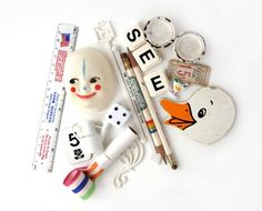 sushipotparts on etsy - white, found objects, supplies, odds and ends, assemblage